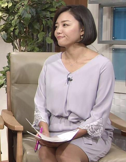 阿部優貴子アナ ミニスカ美脚キャプ・エロ画像3