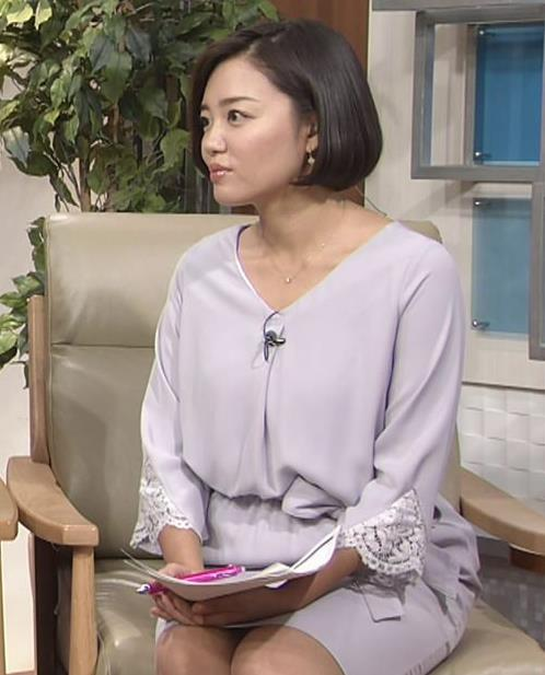 阿部優貴子アナ ミニスカ美脚キャプ・エロ画像5