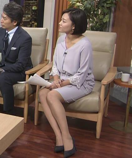 阿部優貴子アナ ミニスカ美脚キャプ・エロ画像6