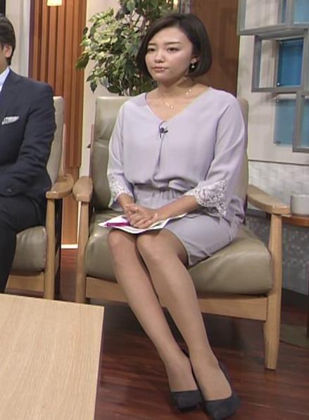 阿部優貴子アナ ミニスカ美脚キャプ・エロ画像7