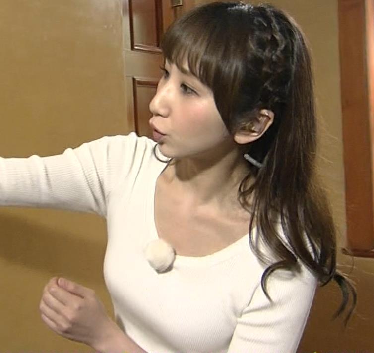 愛原実花 ニット巨乳横乳がアップで撮られるキャプ・エロ画像14