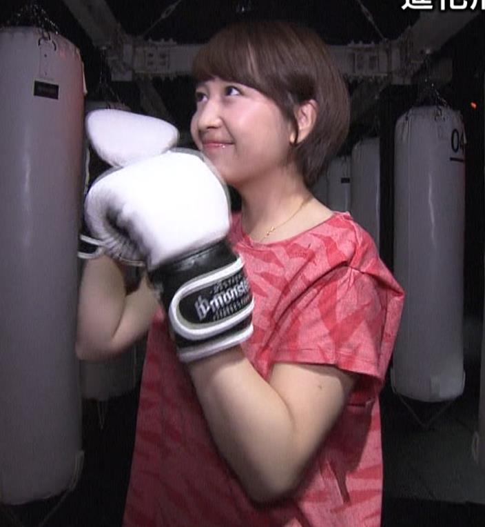 相内優香アナ 巨乳×Tシャツキャプ・エロ画像3