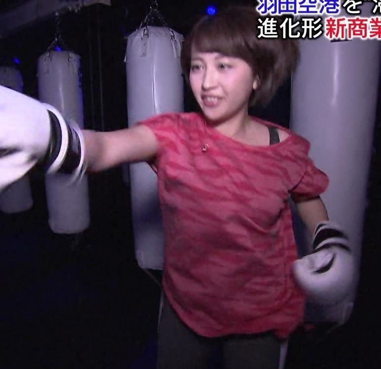 相内優香アナ 巨乳×Tシャツキャプ・エロ画像5