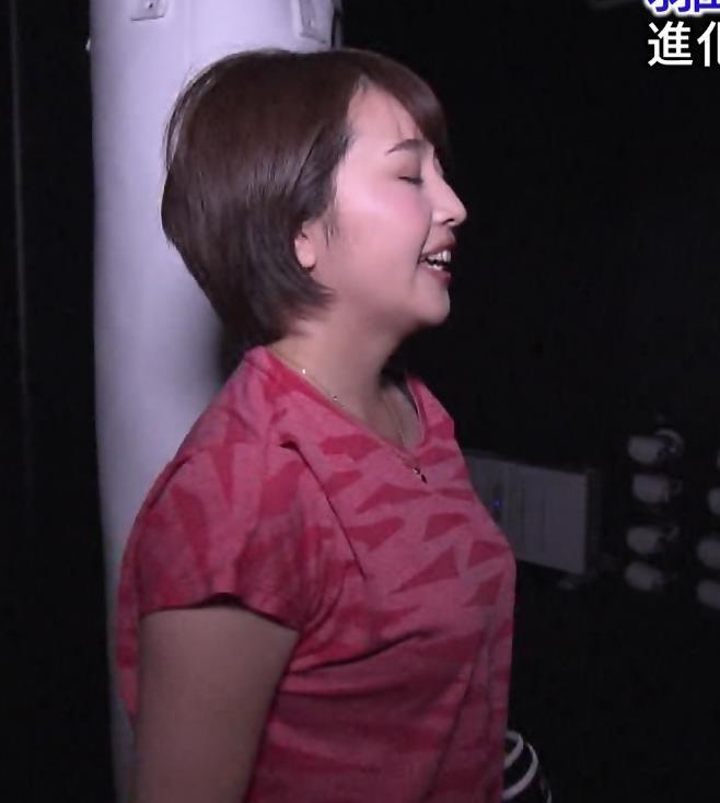 相内優香アナ 巨乳×Tシャツキャプ・エロ画像6