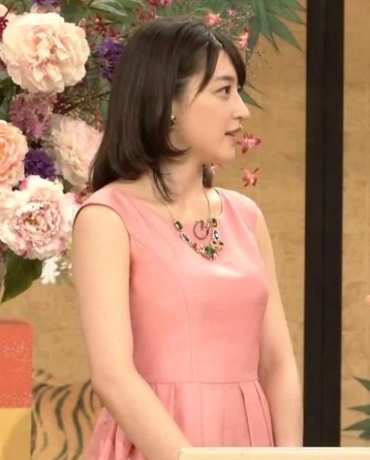 赤木野々花 ピンクのノースリーブワンピースキャプ画像(エロ・アイコラ画像)
