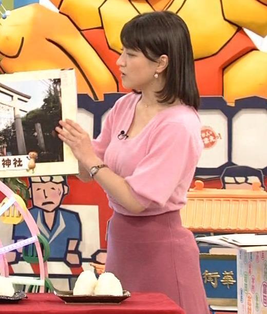赤木野々花アナ 思いっきり胸チラ!キャプ・エロ画像3