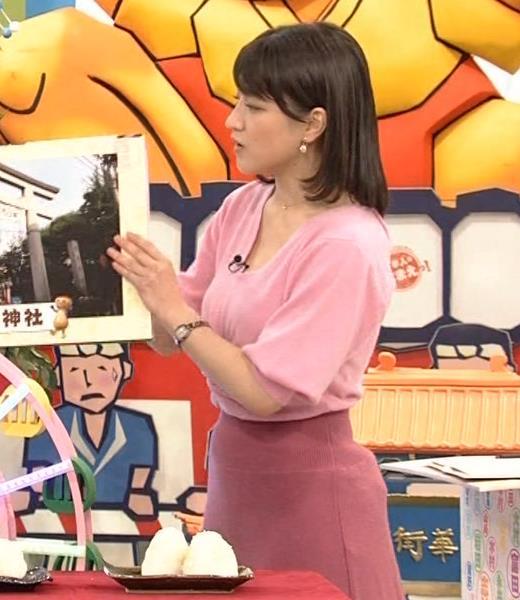 赤木野々花アナ 思いっきり胸チラ!キャプ・エロ画像5
