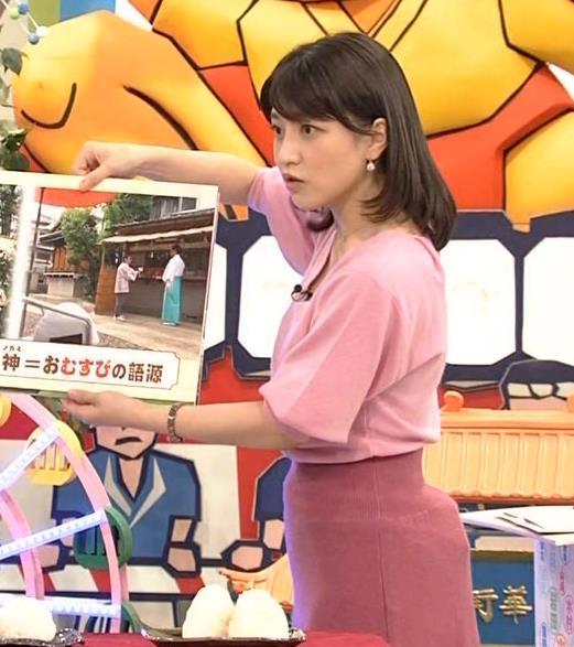 赤木野々花アナ 思いっきり胸チラ!キャプ・エロ画像6