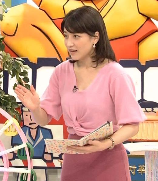 赤木野々花アナ 思いっきり胸チラ!キャプ・エロ画像7