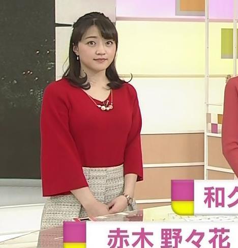 赤木野々花アナ ニットおっぱい!キャプ・エロ画像4