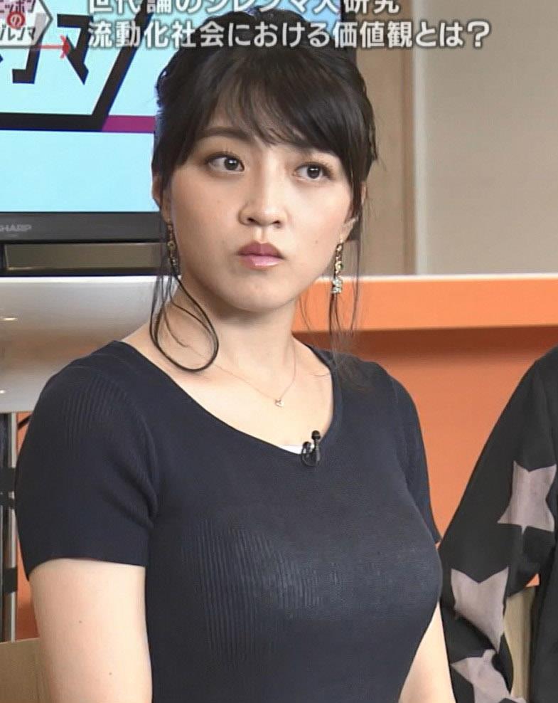 赤木野々花アナ このTシャツおっぱいエロ過ぎだろ!キャプ・エロ画像