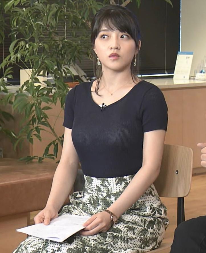 赤木野々花アナ このTシャツおっぱいエロ過ぎだろ!キャプ・エロ画像15
