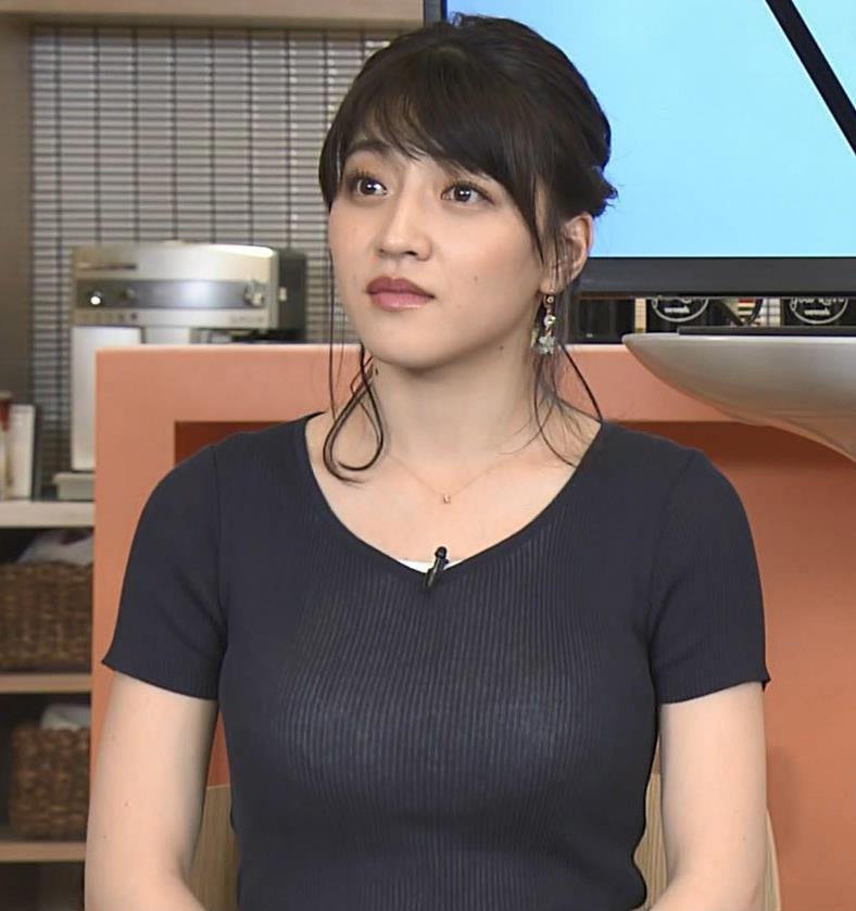 赤木野々花アナ このTシャツおっぱいエロ過ぎだろ!キャプ・エロ画像3