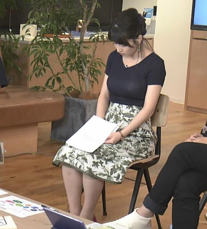 赤木野々花アナ このTシャツおっぱいエロ過ぎだろ!キャプ・エロ画像7