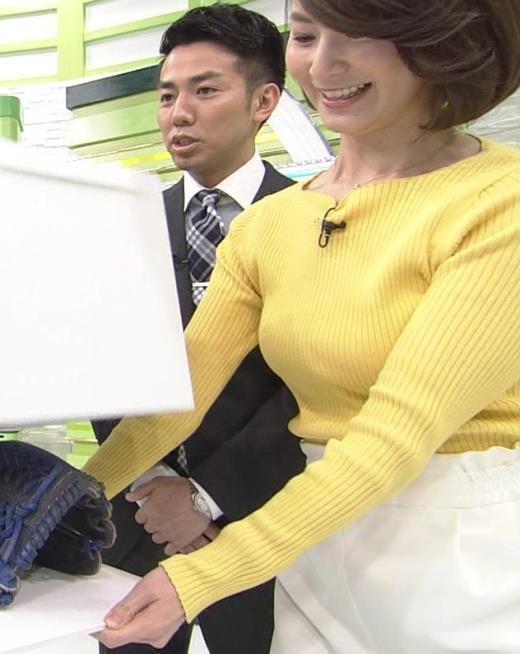 秋元玲奈 Fカップぐらいありそうなニット乳キャプ画像(エロ・アイコラ画像)