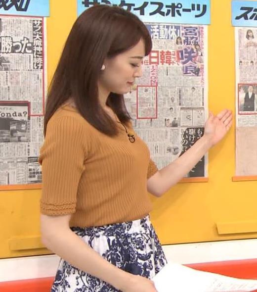 新井恵理那 ニット横乳★♥キャプ画像(エロ・アイコラ画像)