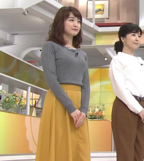 新井恵理那アナ 上向き寄せ上げおっぱいキャプ・エロ画像2
