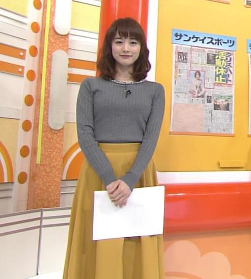 新井恵理那アナ 上向き寄せ上げおっぱいキャプ・エロ画像4