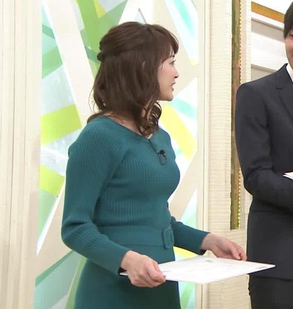 新井恵理那アナ おっぱいがエロいワンピースキャプ・エロ画像