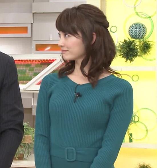 新井恵理那アナ おっぱいがエロいワンピースキャプ・エロ画像2
