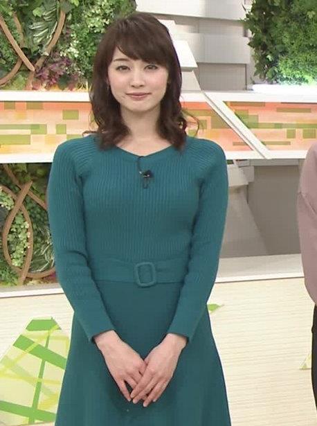 新井恵理那アナ おっぱいがエロいワンピースキャプ・エロ画像3