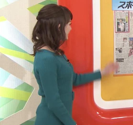 新井恵理那アナ おっぱいがエロいワンピースキャプ・エロ画像4