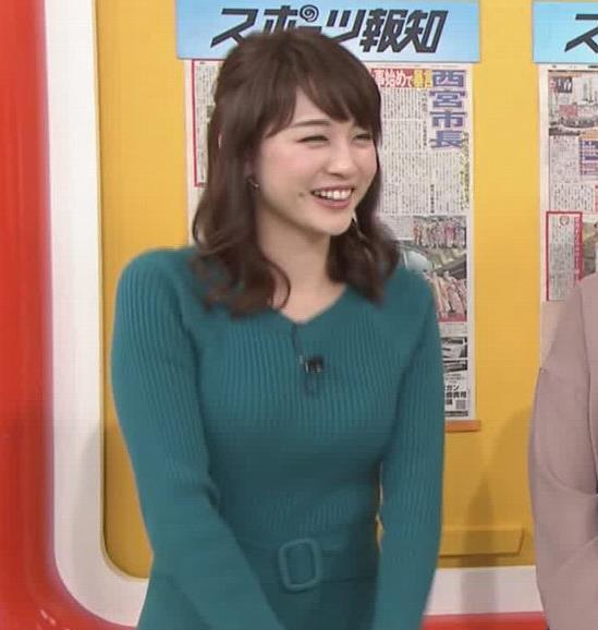新井恵理那アナ おっぱいがエロいワンピースキャプ・エロ画像5
