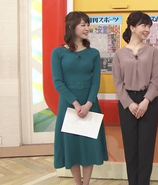 新井恵理那アナ おっぱいがエロいワンピースキャプ・エロ画像6