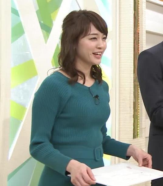 新井恵理那アナ おっぱいがエロいワンピースキャプ・エロ画像7