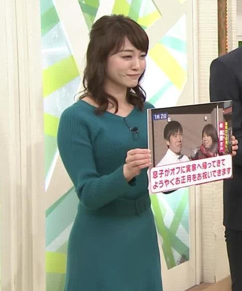 新井恵理那アナ おっぱいがエロいワンピースキャプ・エロ画像8