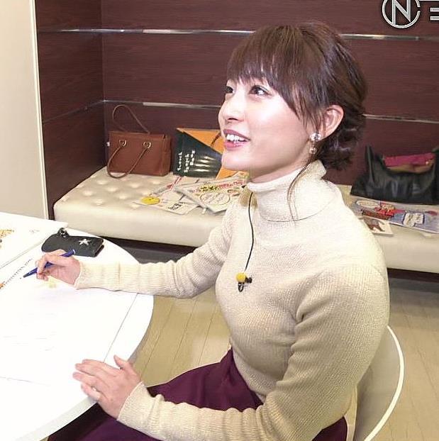 新井恵理那 このニット乳いがいい感じキャプ・エロ画像