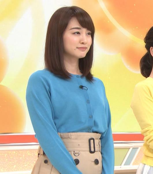 新井恵理那 青いシャツキャプ・エロ画像