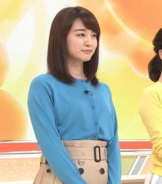 新井恵理那 青いシャツキャプ画像(エロ・アイコラ画像)