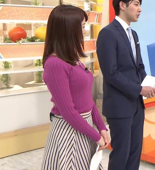 新井恵理那アナ 上向きニット横乳!キャプ・エロ画像5