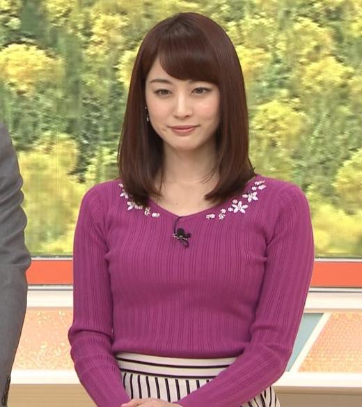 新井恵理那アナ 上向きニット横乳!キャプ・エロ画像6