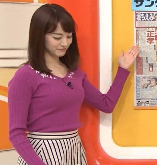 新井恵理那アナ 上向きニット横乳!キャプ・エロ画像9