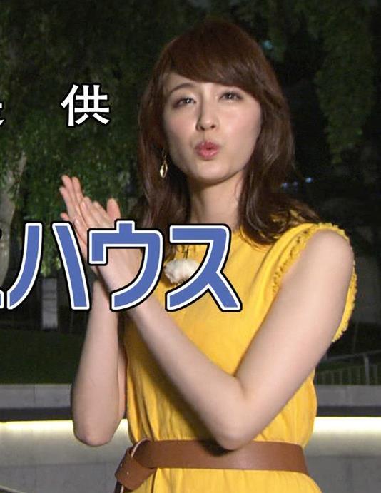 新井恵理那 ノースリーブ&顔面アップ多数キャプ・エロ画像15