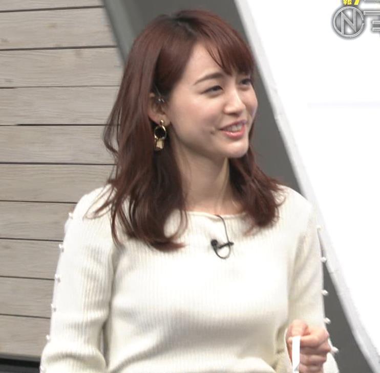 新井恵理那アナ ニットおっぱいキャプ・エロ画像3