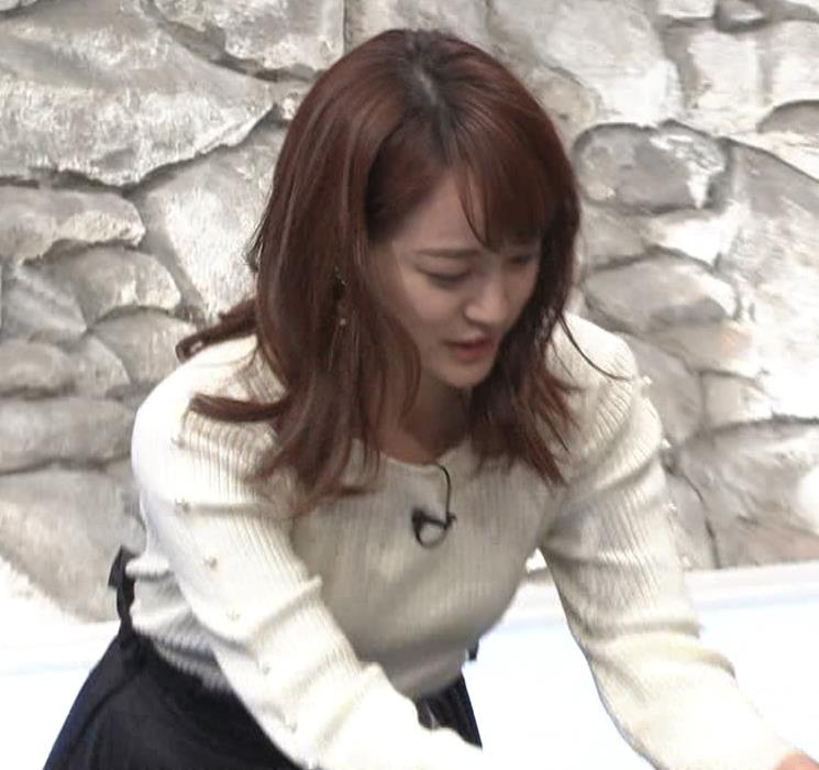新井恵理那アナ ニットおっぱいキャプ・エロ画像5