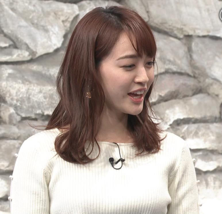 新井恵理那アナ ニットおっぱいキャプ・エロ画像6