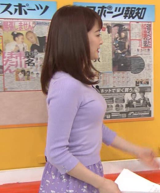 新井恵理那アナ 突き出た横乳キャプ・エロ画像2