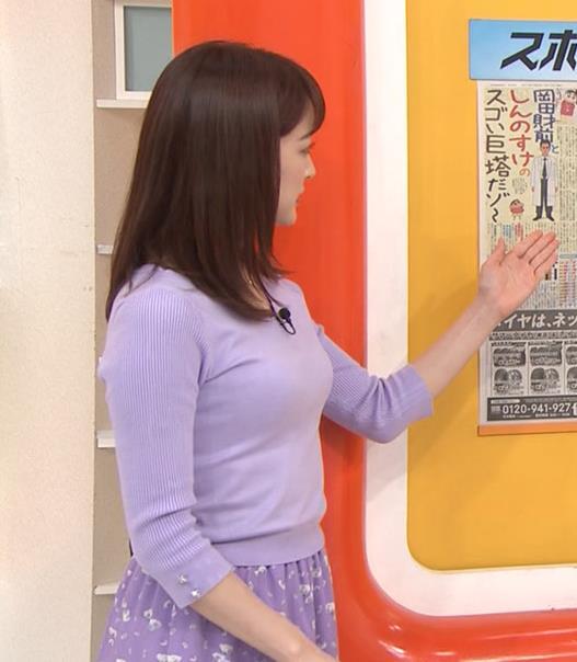 新井恵理那アナ 突き出た横乳キャプ・エロ画像4