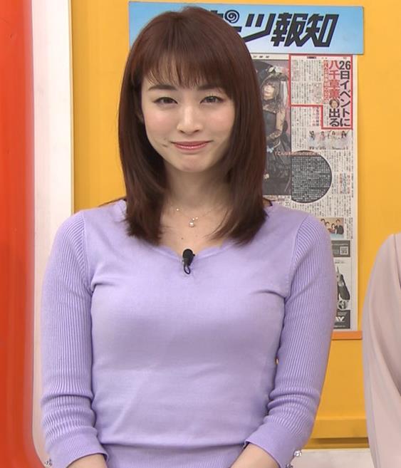 新井恵理那アナ 突き出た横乳キャプ・エロ画像5