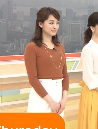 新井恵理那アナ クッキリニットおっぱいのエロいラインキャプ・エロ画像