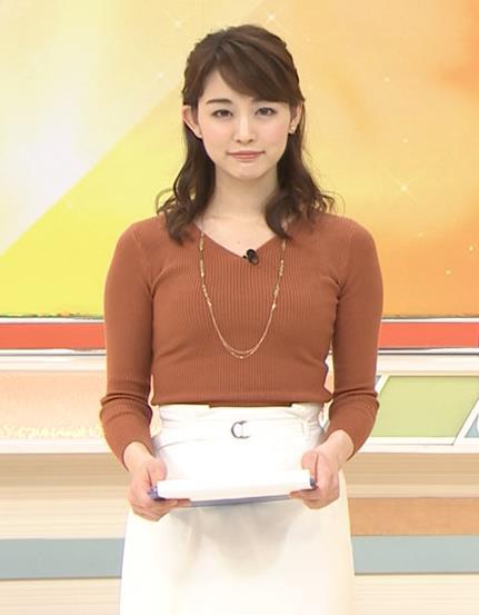 新井恵理那アナ クッキリニットおっぱいのエロいラインキャプ・エロ画像5