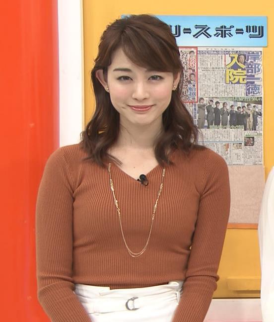 新井恵理那アナ クッキリニットおっぱいのエロいラインキャプ・エロ画像6