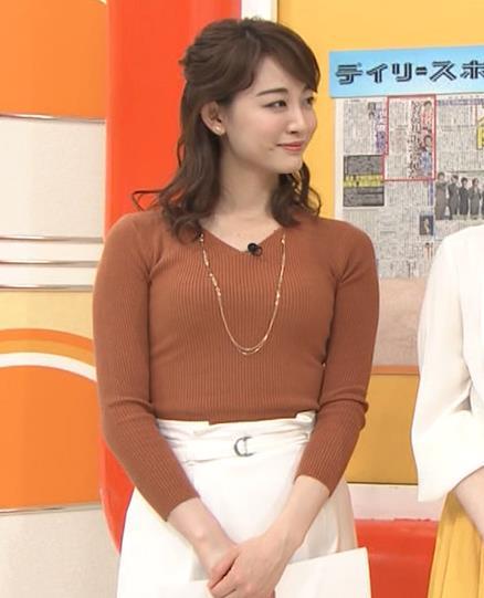 新井恵理那アナ クッキリニットおっぱいのエロいラインキャプ・エロ画像7