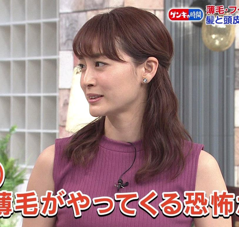 新井恵理那 エッチなノースリーブキャプ・エロ画像2