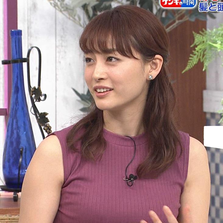 新井恵理那 エッチなノースリーブキャプ・エロ画像12