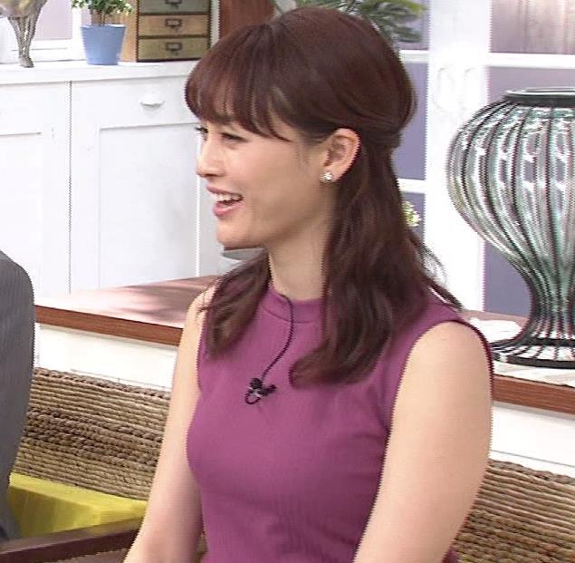 新井恵理那 エッチなノースリーブキャプ・エロ画像3